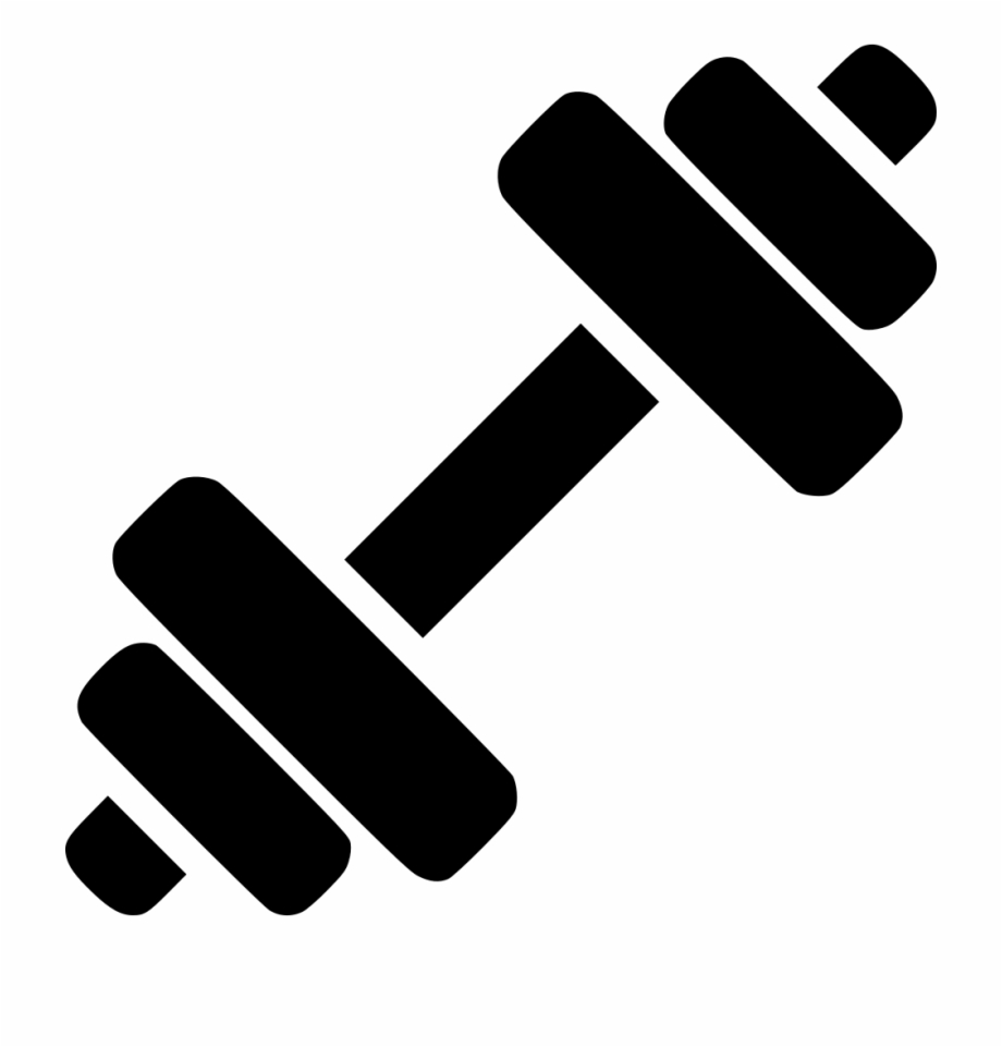 Fitness Svg Icon Dumbbell Vector.