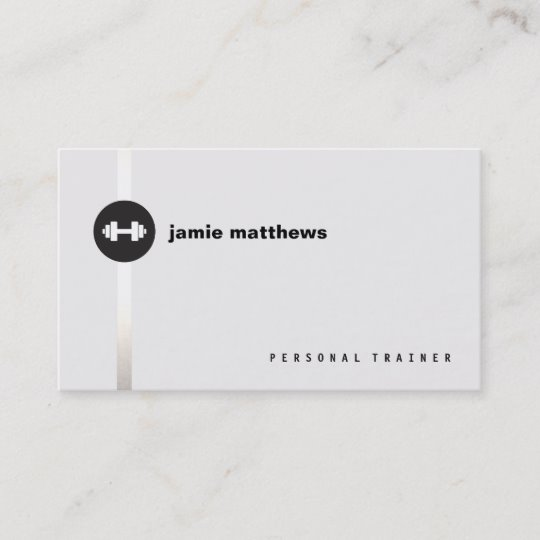 Personal Trainer Dumbbell Logo Fitness Instructor Business Card.