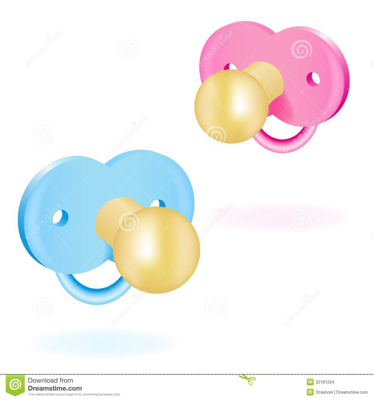 Baby Pacifier Clipart.