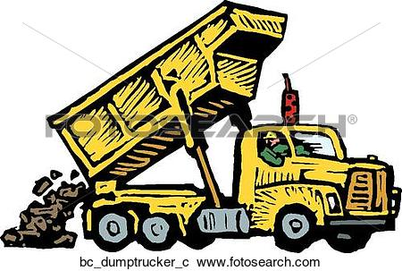 Dump truck operator Clipart Vector Graphics. 12 dump truck.