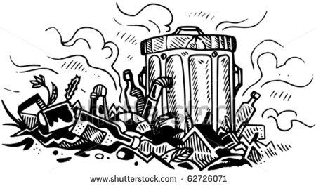 Rubbish dump clipart.