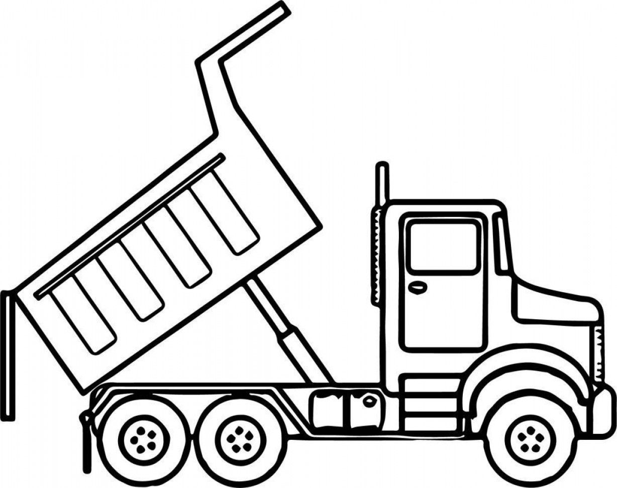 Best Hd Dump Truck Coloring Pages Vector Photos.