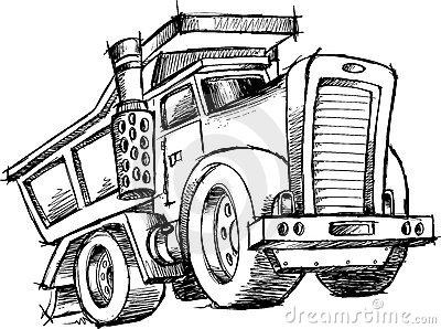 Dump Truck Cartoon Vector Clipart Stock Vector.