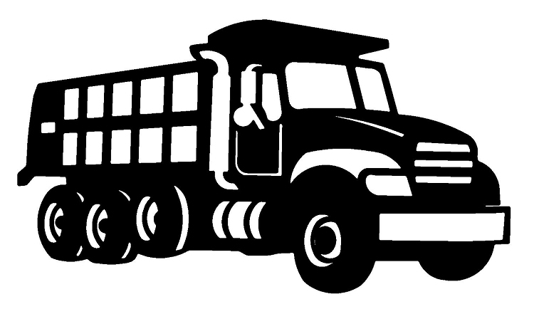 Dump Truck Clipart Black And White.