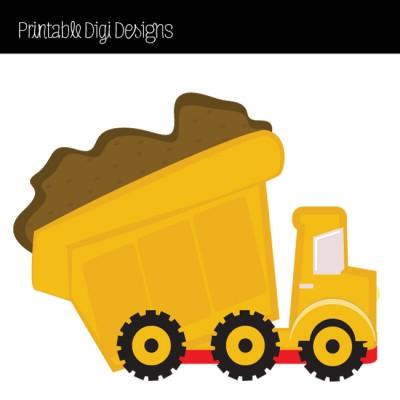Yellow dump truck clipart.