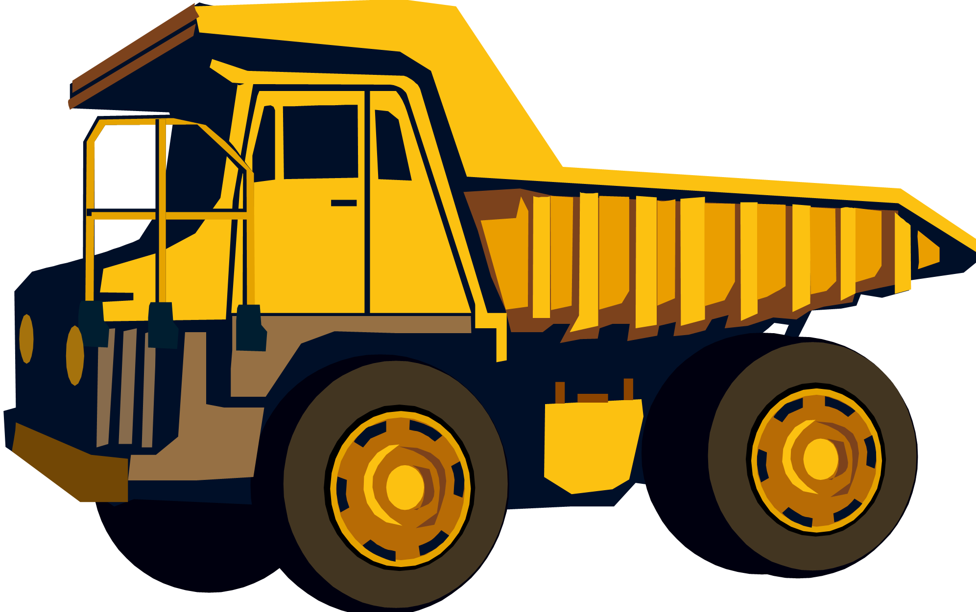 Dump Truck Cartoon Clipart.
