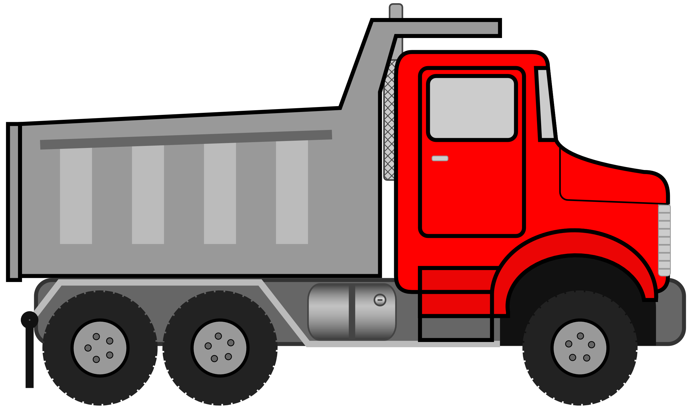 Dump Truck Clipart Black And White.