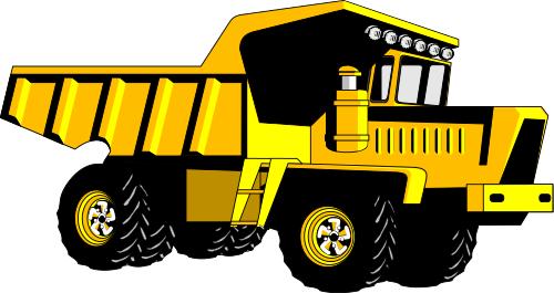 Dump Truck Cartoon Clipart.
