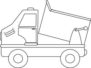 Dump Truck Clipart Image.