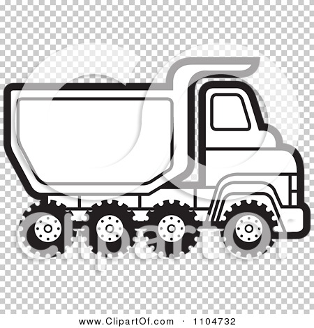 Clipart Black And White Dump Truck 2.