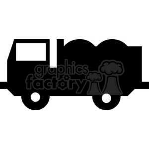 Dump Truck Silhouettes clipart. Royalty.