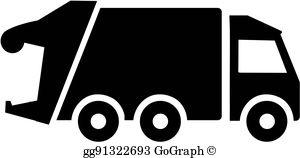Garbage Trucks Clip Art.