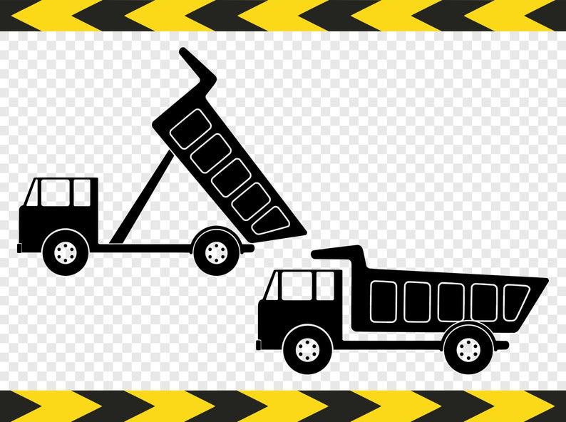Dump truck SVG Clipart Clip art Scrapbook Files for Cricut Silhouette Dxf  Pdf Png.