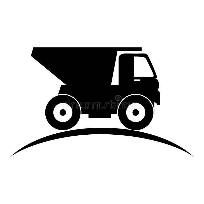 Dump Truck Silhouette Stock Illustrations.