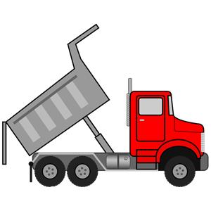 Dumper truck clipart.