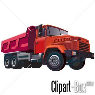 CLIPART RED DUMPER TRUCK.