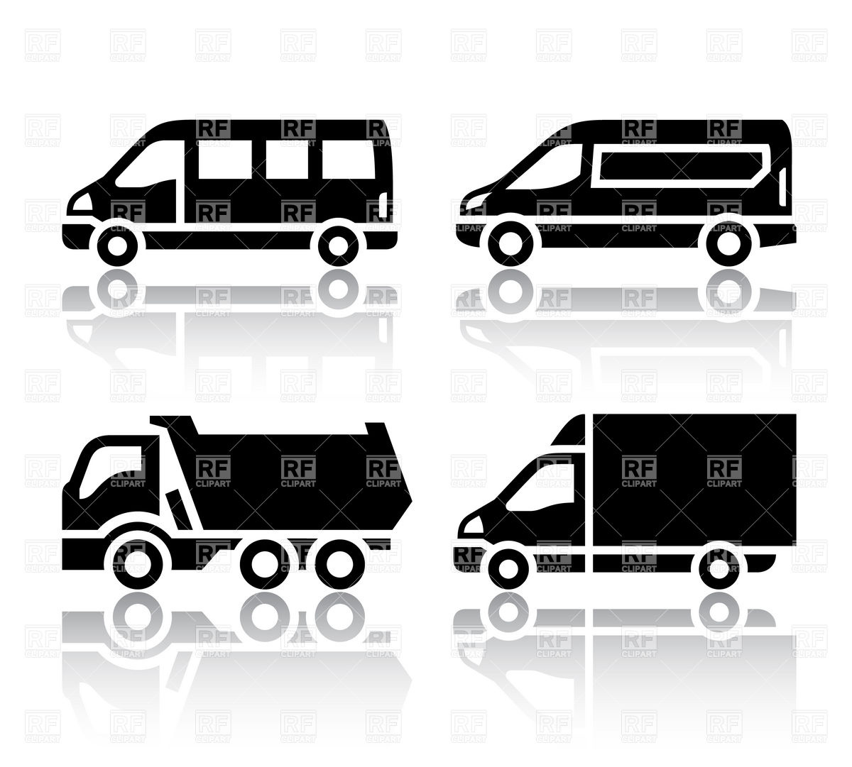 Freight transport icons.