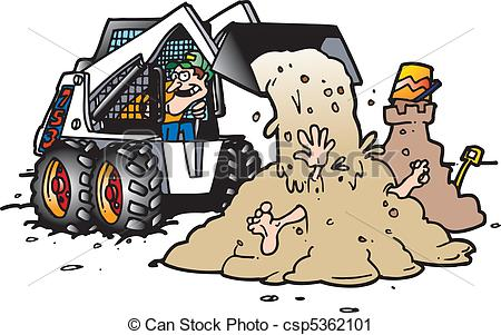 Vector Clip Art of skid steer.