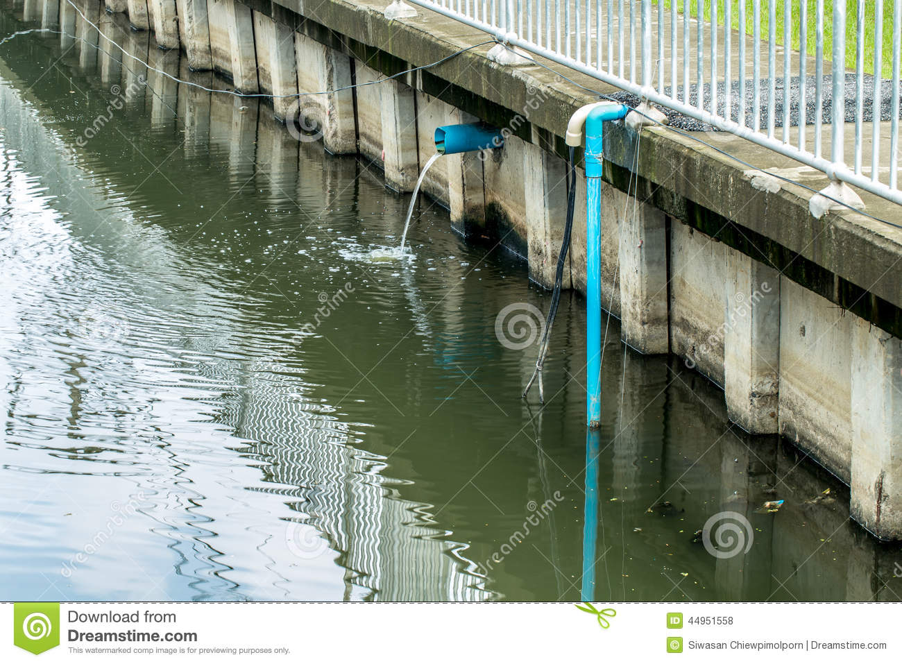 Water Dump Royalty Free Stock Image.