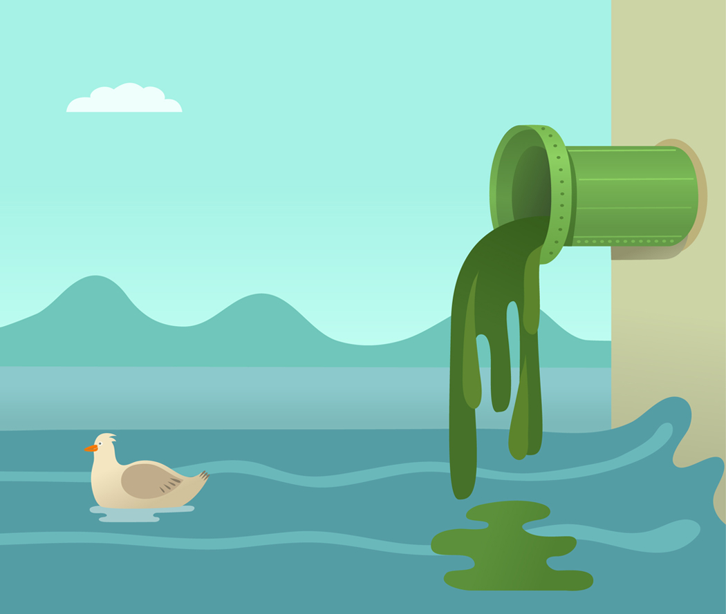 Clipart water pollution.