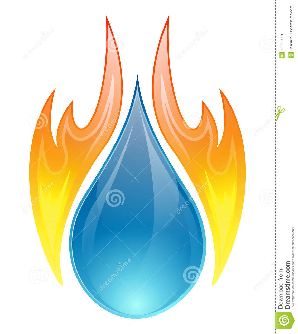 Water fire clipart.