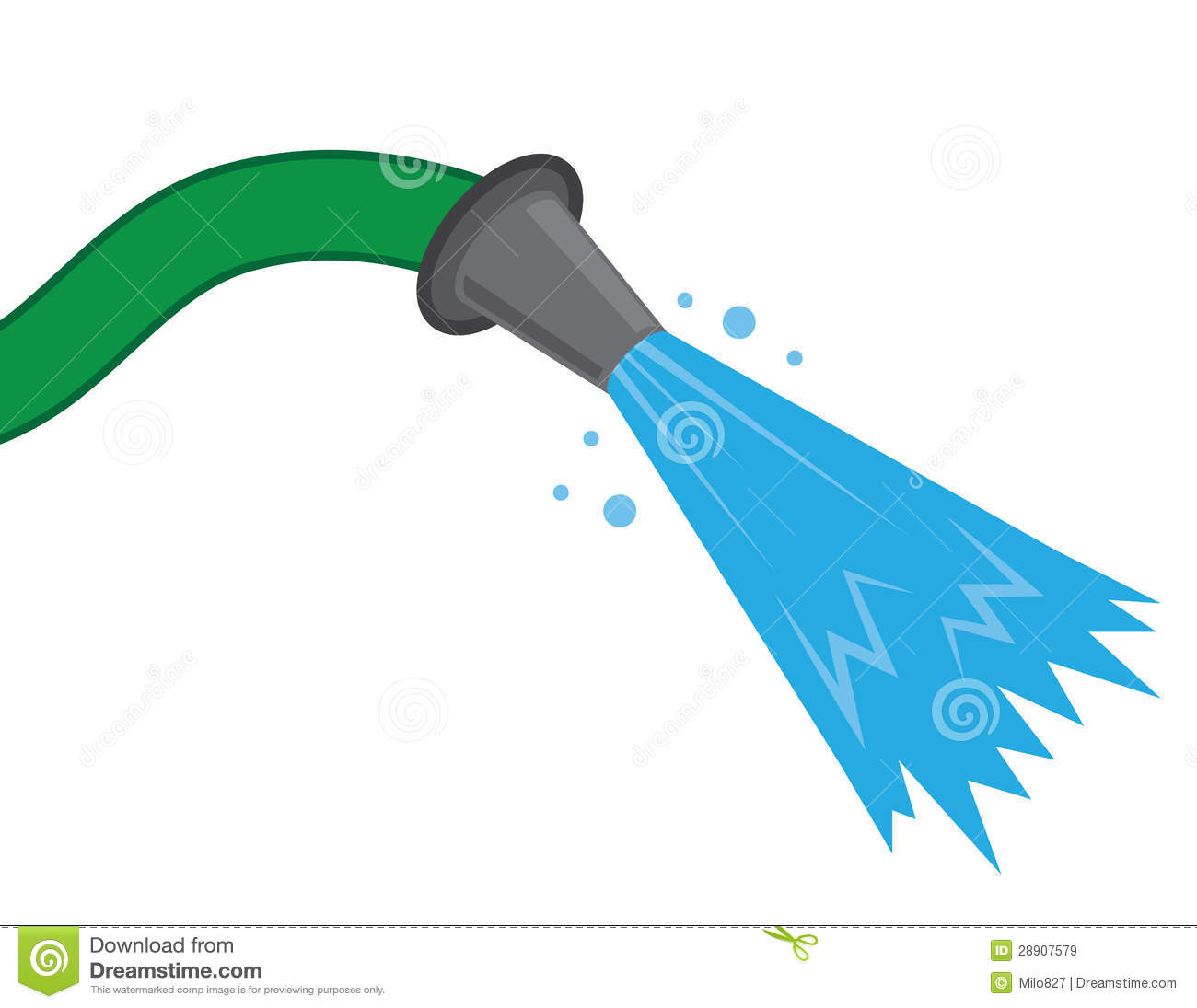 Child dumping water bottle on fire clipart.