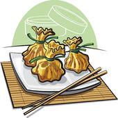 Steamed Dumpling Clip Art.