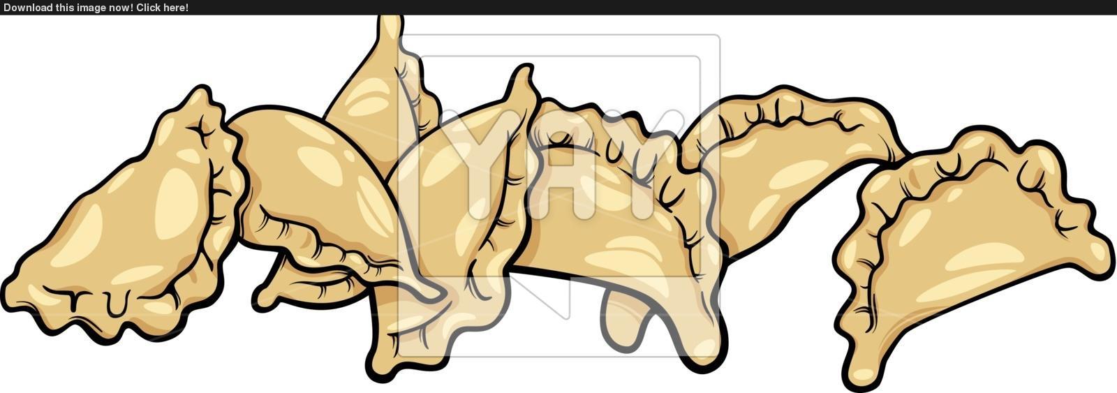 pierogi or dumplings cartoon clip art vector.