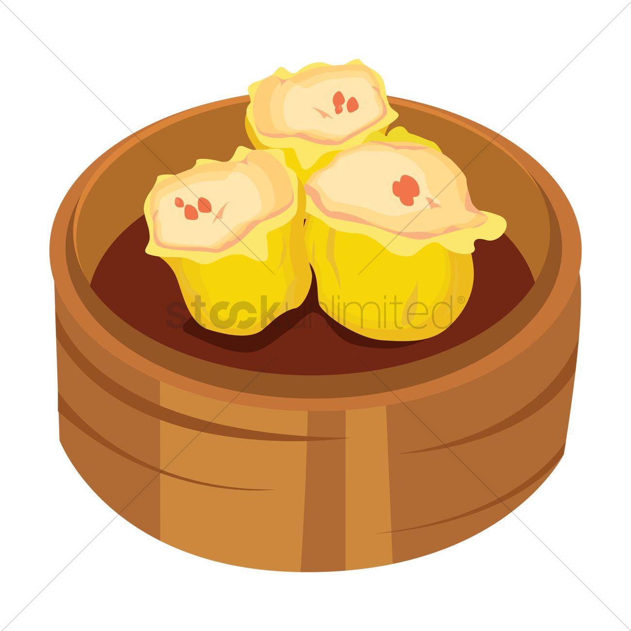 Pork dumplings Vector Image.