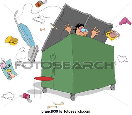 Dumpster Diving Clipart.