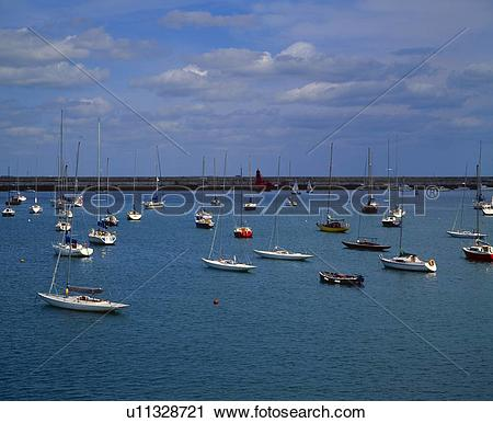 Stock Photography of Sailboats at Dun Laoghaire harbor u11328721.