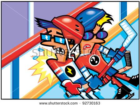 Hockey Fight Stock Photos, Royalty.
