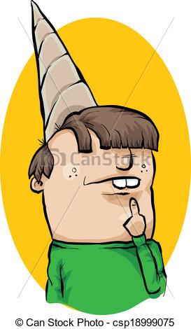 Vectors Illustration of Dunce Cap.