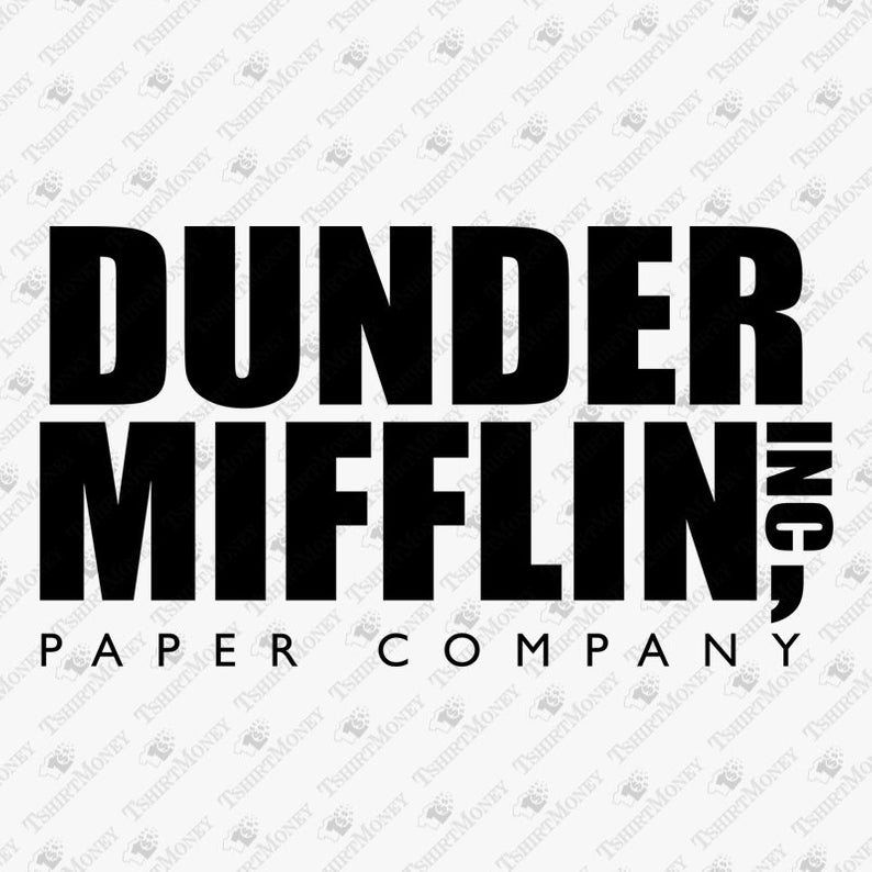 Dunder Mifflin Inc SVG, Vector Cut Files, Clipart, Tshirt Design, Vinyl Cut  File, Silhouette, Cameo, Cricut, Decal, SVg, Dxf, Pdf, Png.