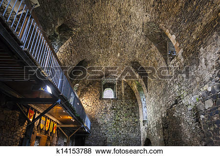 Pictures of interior of Dundonald Castle, Ayrshire, Scotland.