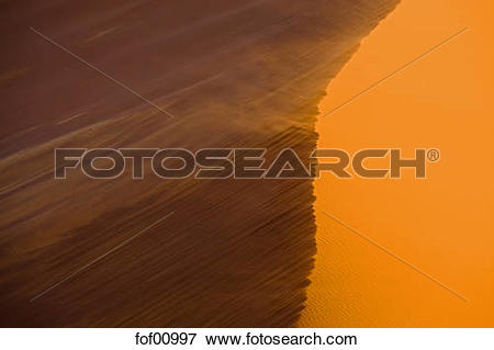 Picture of Africa, Namibia, Namib Desert, Dune 45, Sand storm.