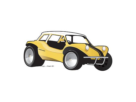 Mini Sand Rail Dune Buggy Clipart.