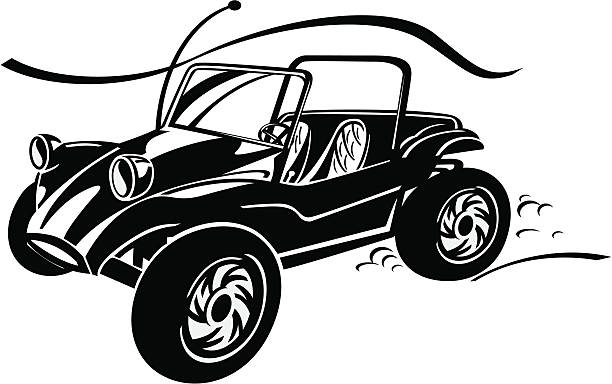 Dune Buggy Illustrations, Royalty.