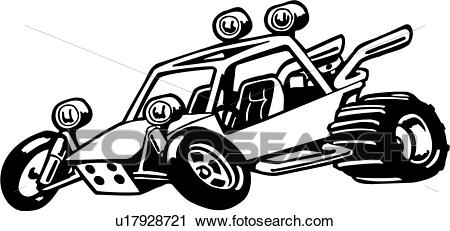 , buggy, cartoon, dune buggy, sport, wacky, action, extreme, Clipart.