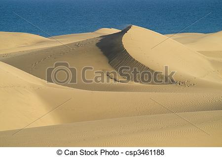 Stock Illustration of Dunes and sea.
