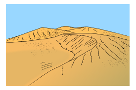 Clipart sand dunes.