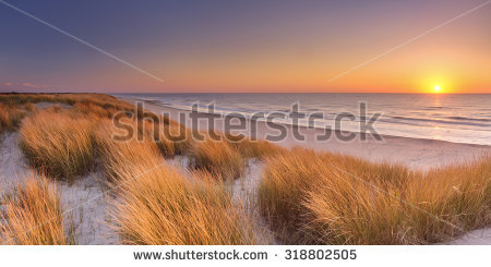 Beach Dunes Stock Images, Royalty.