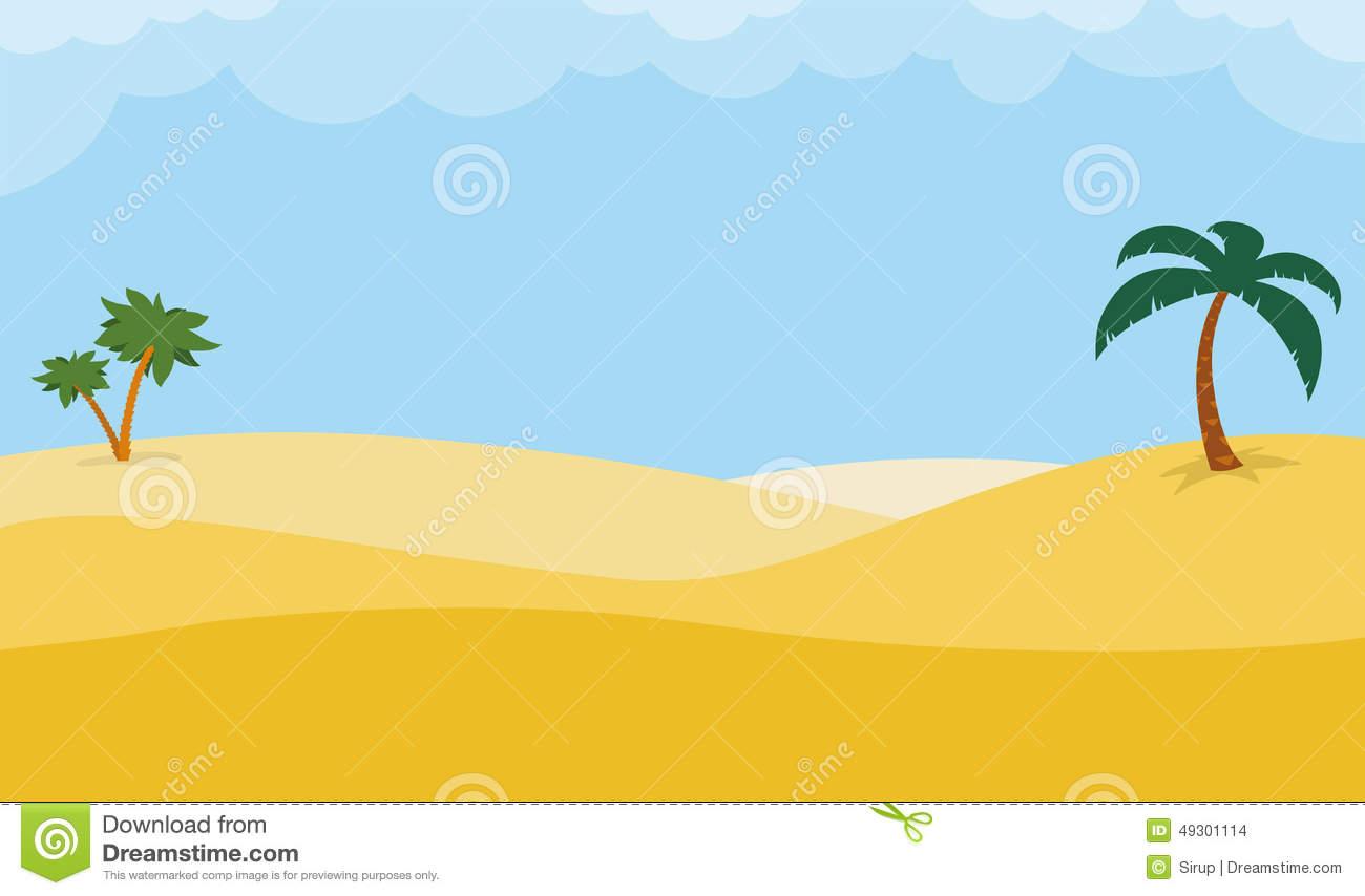 Camels Rolling Desert Background Sand Dunes Stock Illustrations.