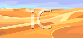 Royalty Free Clip Art Image: Sand Dunes.
