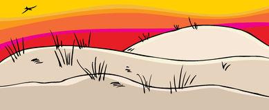 Sand dunes clipart.
