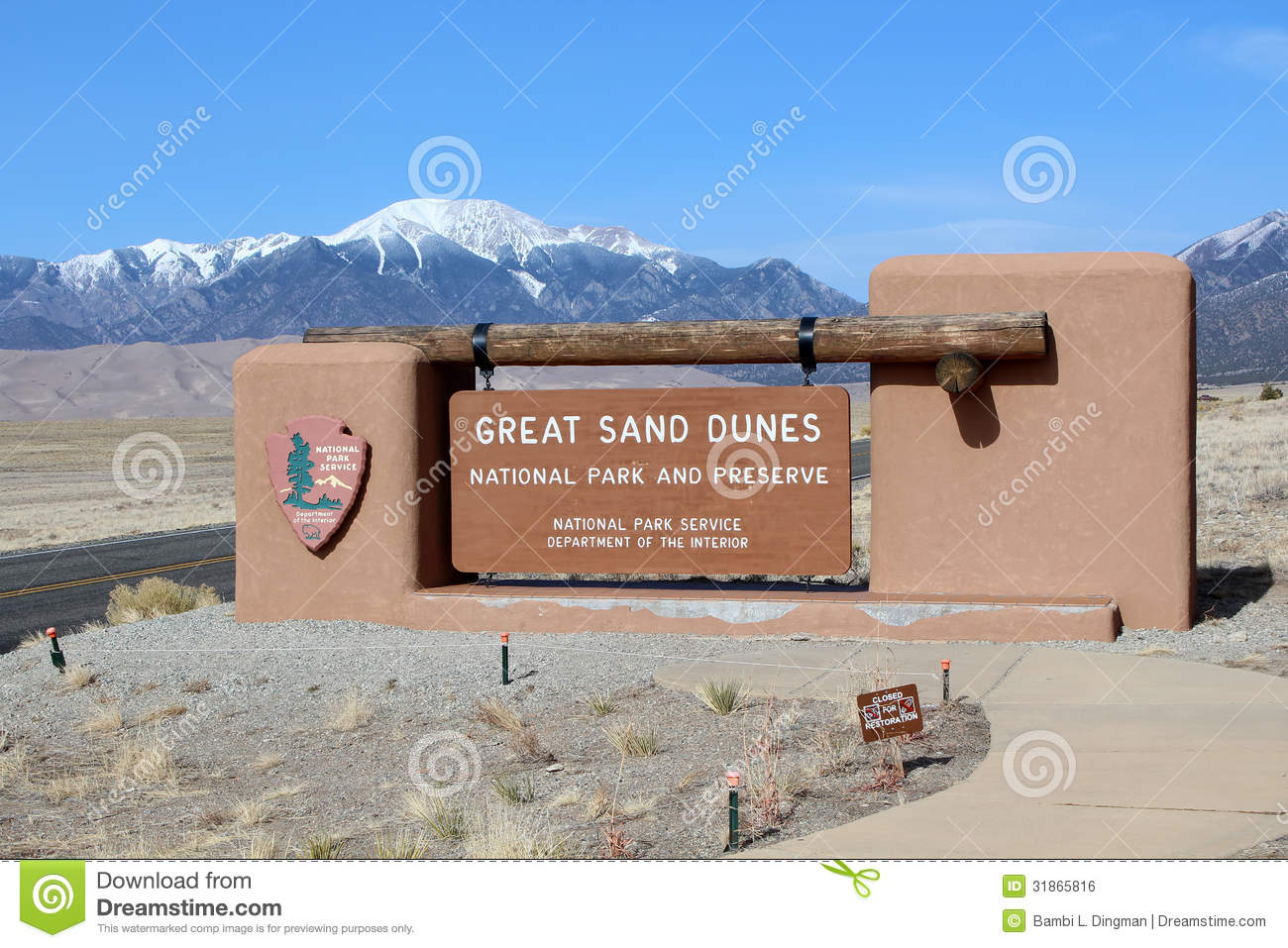 Great Sand Dunes National Park Editorial Photo.
