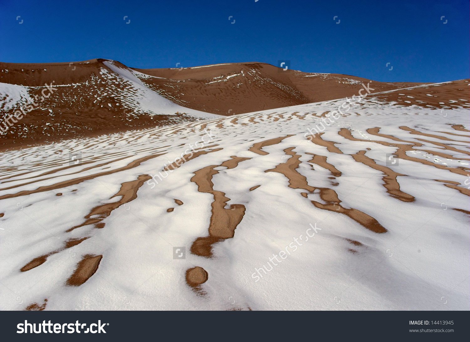 Snow Covered Dunes Great Sand Dunes Stock Photo 14413945.