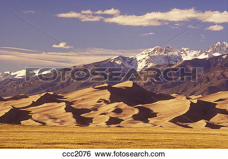 Stock Images of USA, Colorado, Great Sand Dunes National Park.