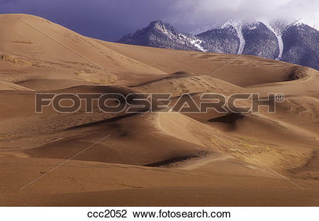 Stock Photo of USA, Colorado, Great Sand Dunes National Park.