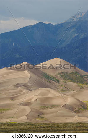 Stock Photography of USA, Colorado, Great Sand Dunes National Park.
